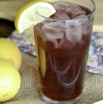 A glass of homemade Starbucks Passion Fruit Lemonade