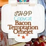IHOP Bacon Temptation Omelet photo collage