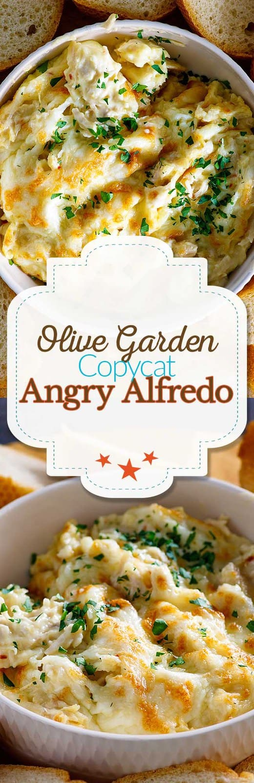 Recate the Olive Garden Angry Alfredo Dipping Sauce at home. Filled with chicken, and just the right amount of spice this recipe is a perfect appetizer or addition to your party. #appetizer #copycat #copycatrecipe #alfredo #olivegarden #keto #lowcarb