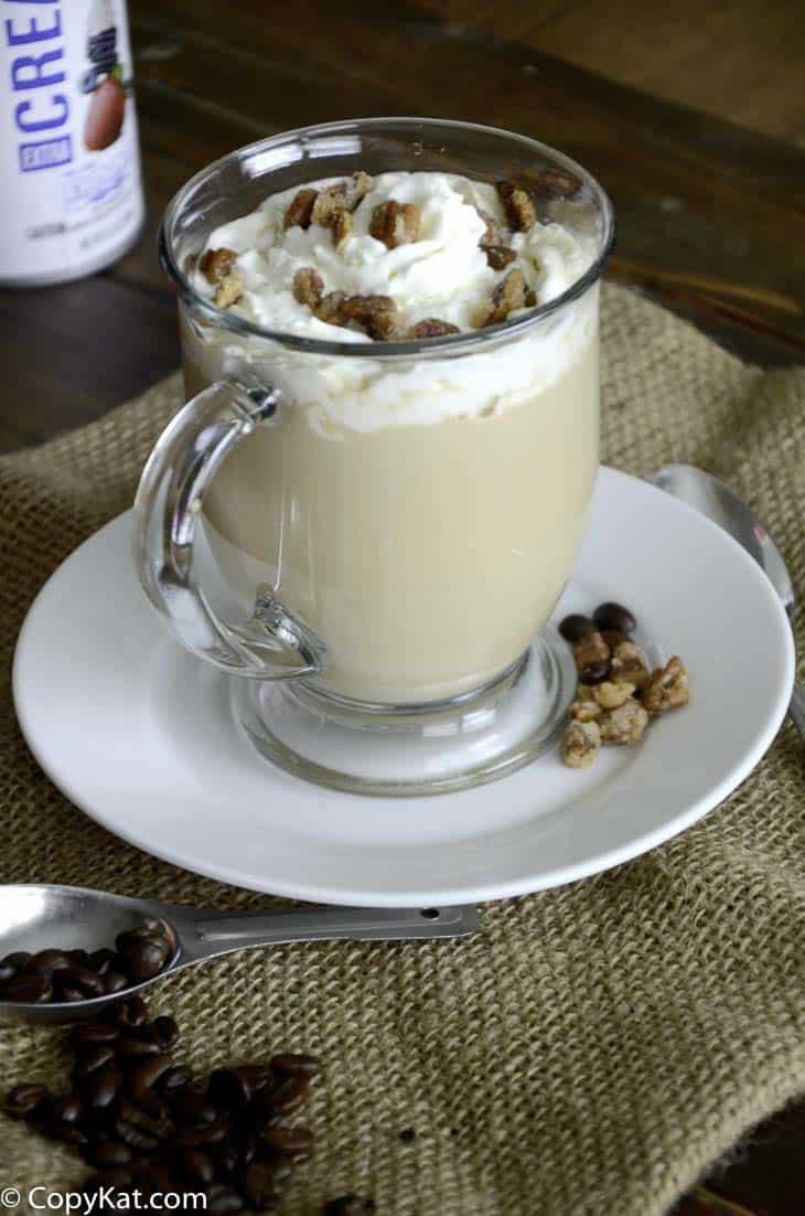 Make your own copycat Starbucks Maple Pecan Latte at home with this copycat recipe.  #latte #copycat #recipe