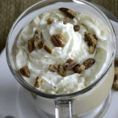 Recreate the Starbucks Maple Pecan Latte at home. This makes the perfect cup of coffee for the weekend. #latte #starbucks #copycat #coffee