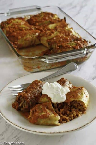 Enjoy these cabbage rolls when you make them fresh.