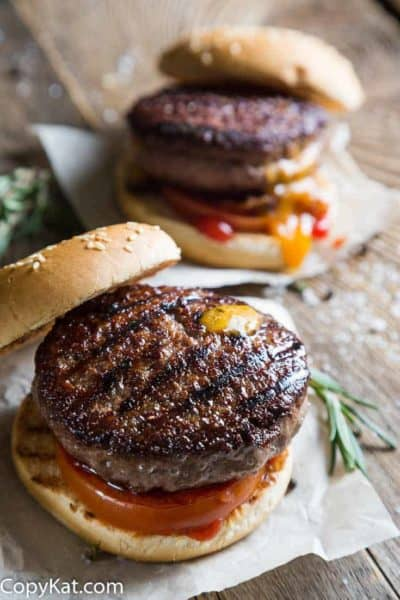 Two grilled hamburgers
