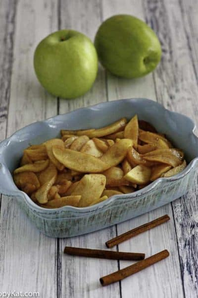Homemade Cracker Barrel Fried Apples in a serving dish.