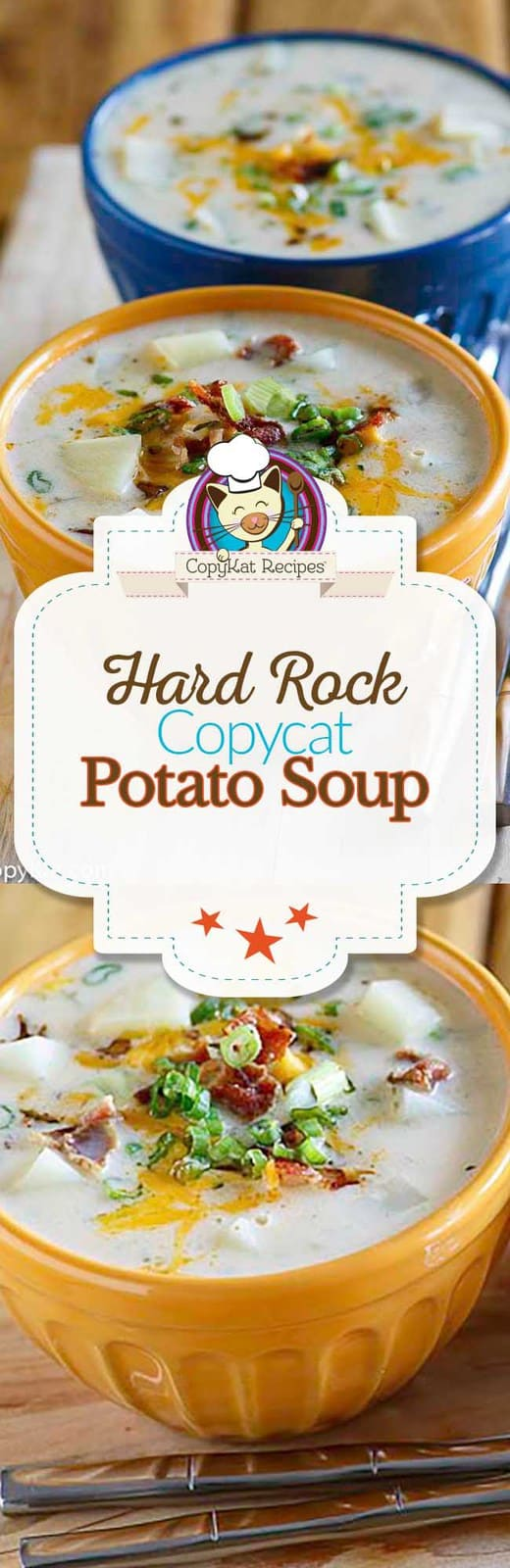 You can recreate the Hard Rock Cafe Potato Soup at home with this easy copycat recipe. #potatosoup #potato #soup #copycat #copycatrecipe