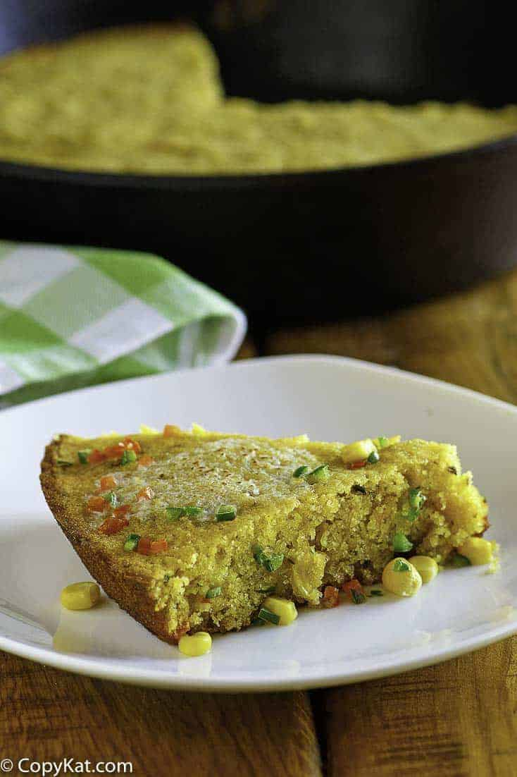 Make Luby's Jalapeno Cornbread at home with this copycat recipe.   #cornbread #copycat #copycatrecipe