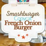 French Onion Burger photo collage