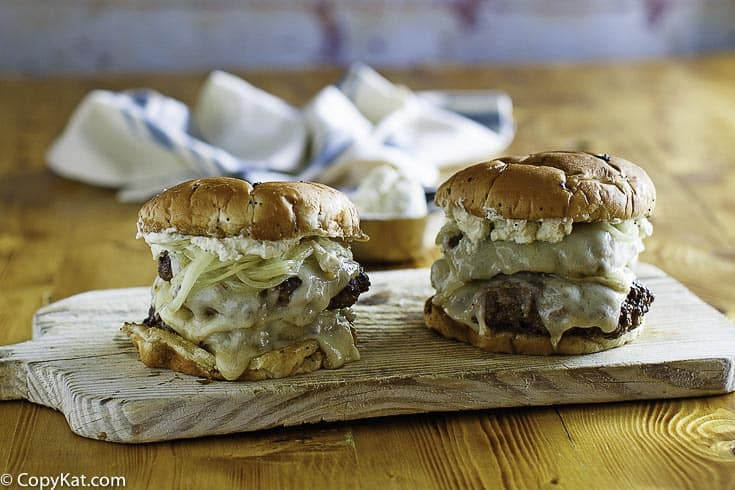 Recreate the Smashburger French Onion Burger at home with this easy copycat recipe.
