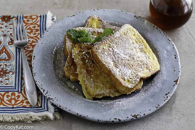 homemade Denny's French toast on a plate