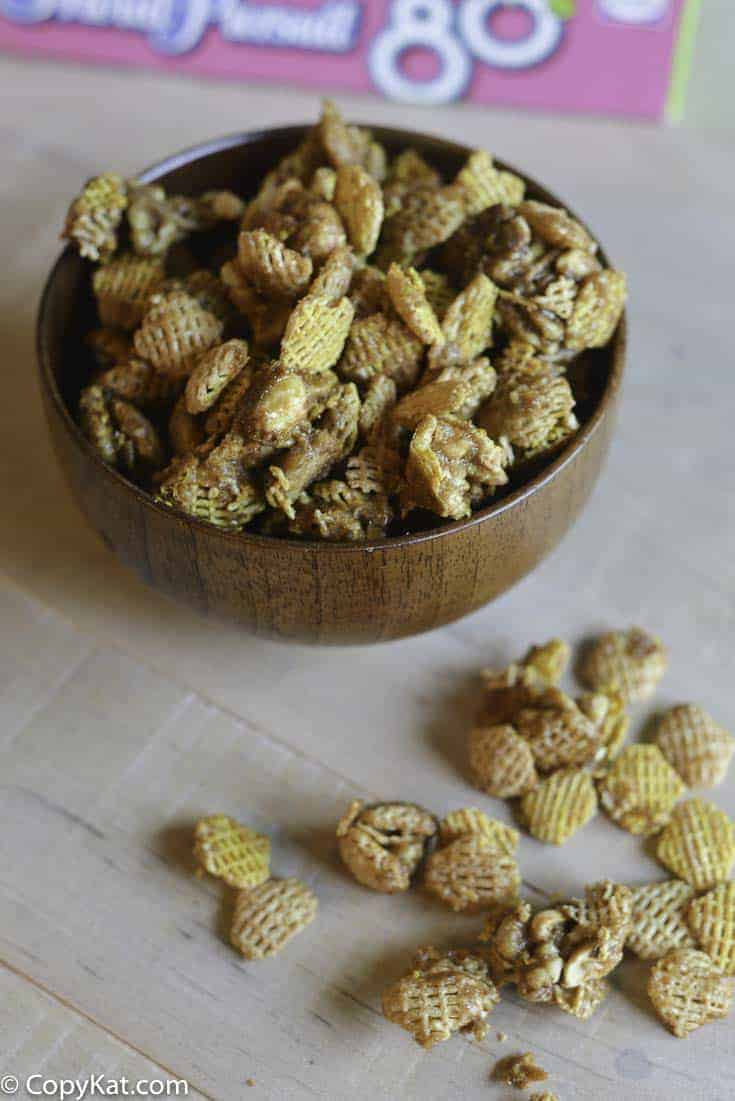 Make your own bowl of Crispix Snibbles at home with this easy recipe.
