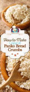 Collage of homemade panko bread crumbs photos