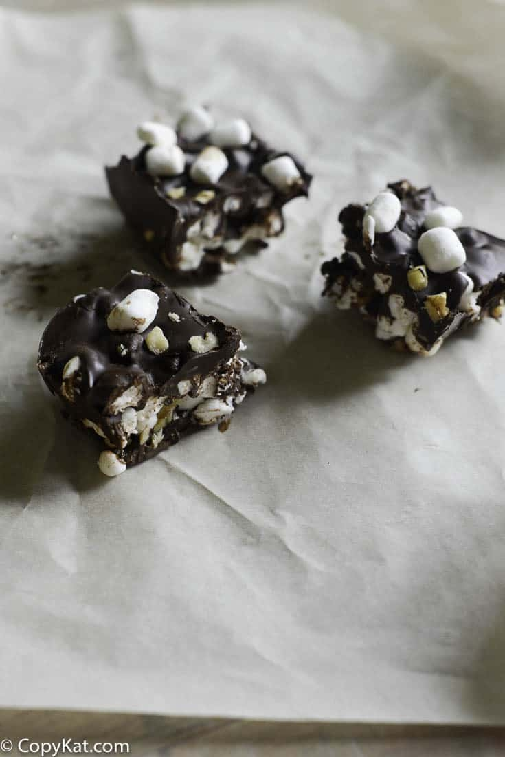 You can make Rocky Road candy easily at home with this simple copycat recipe.