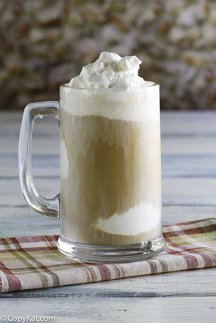 Homemade Chick-fil-A Frosted Coffee in a tall glass mug