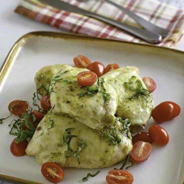 Homamde Olive Garden Chicken Margarita on a plate.