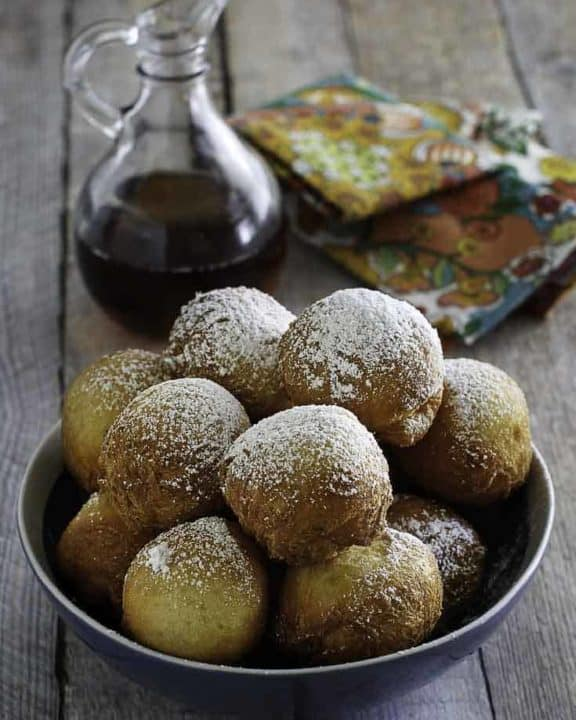 Denny's Pancake Puppies in a bowl