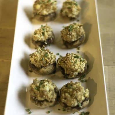 You can make delicious stuffed mushrooms with just three ingredients.