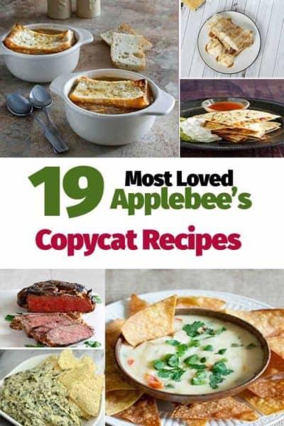 Collage of Copycat Applebees Recipe photos