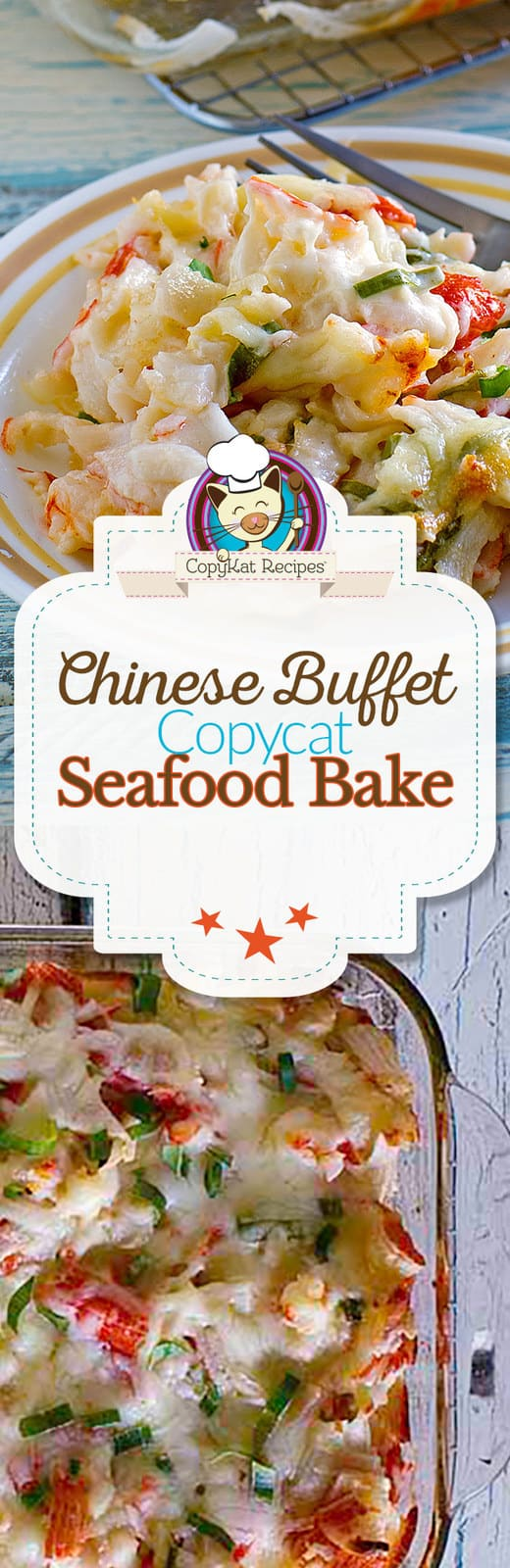 It's easy to make this seafood bake that is served at my Chinese Buffet restaurants.