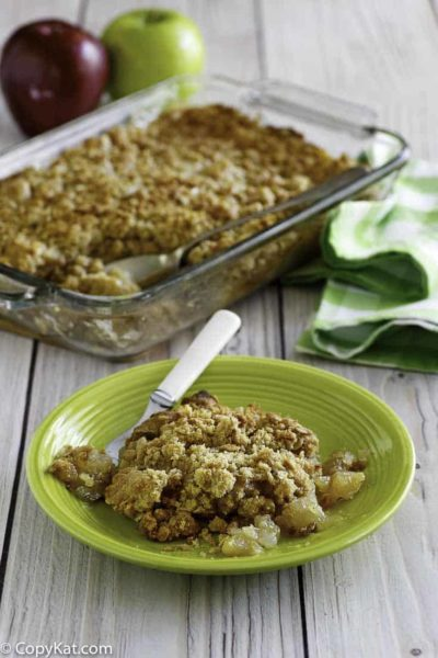 You won't be able to resist this easy and delicious homemade apple crisp.