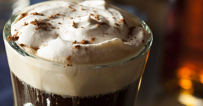You can warm up your soul with this classic Irish Coffee recipe. #coffee #irishcoffee
