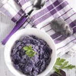 Serve up delicious and easy to make purple mashed potatoes.