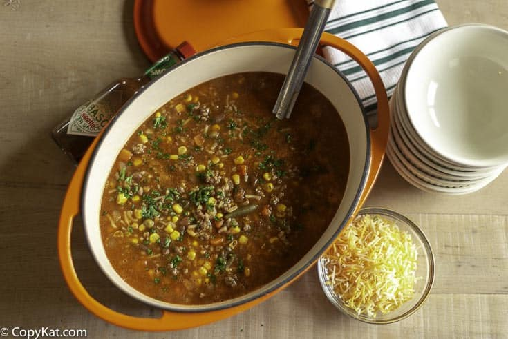 Cowboy soup is an easy dinner recipe to make.