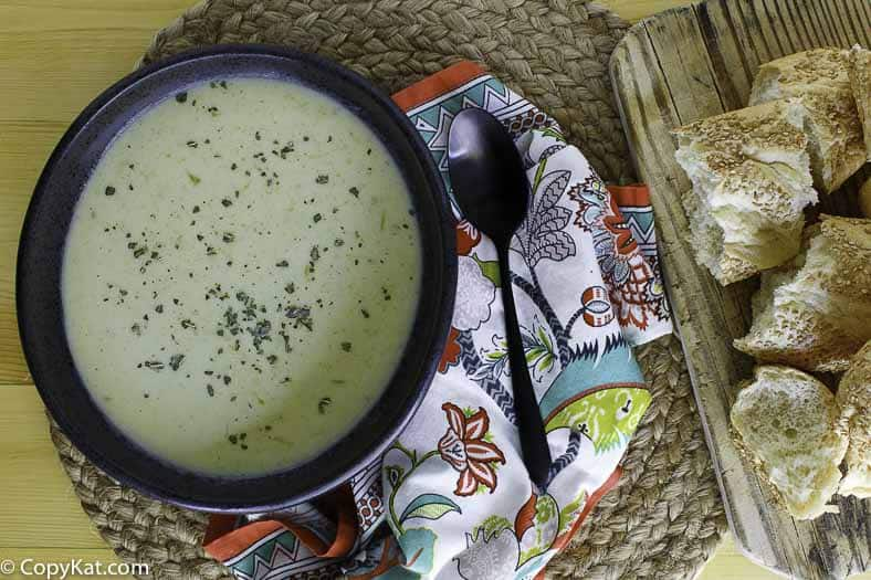 Homemade cream of celery soup is so tasty when made from scratch.
