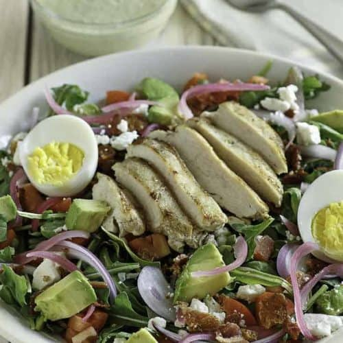 Panera Bread Green Goddess Cobb Salad is perfect for those who are following a low carb or keto diet.