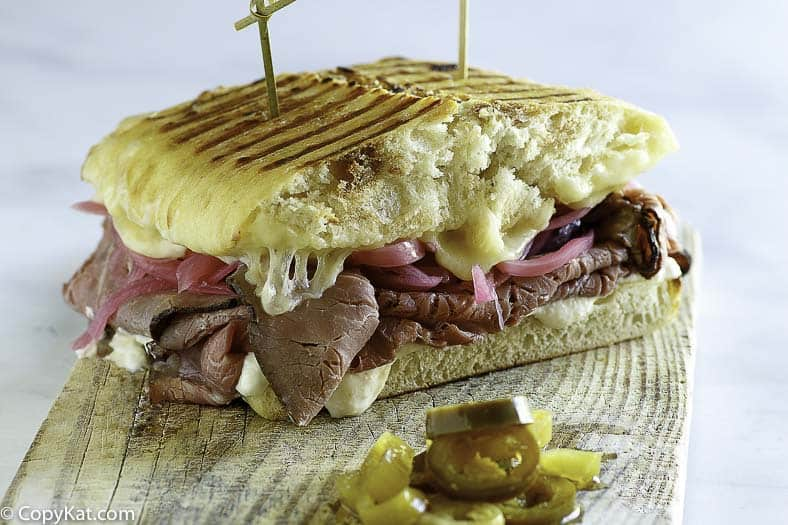 Steak & White Cheddar Panini