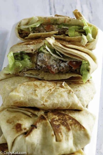 4 homemade Taco Bell Crunchwrap Supremes