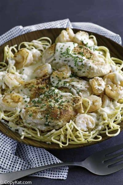 Make the Outback Steakhouse Queensland Chicken and Shrimp at home.
