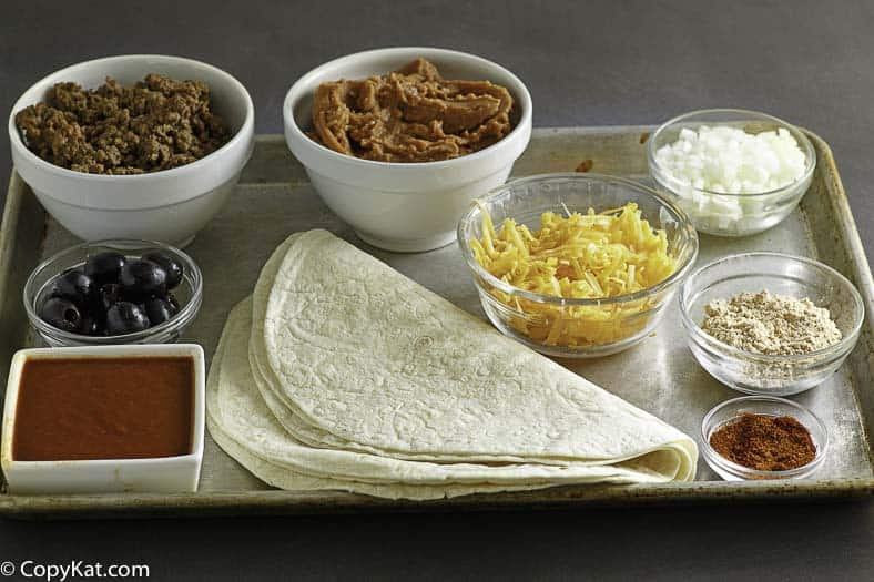 Ingredients in the Taco Bell Enchirito, you can make this Taco Bell favorite at home.