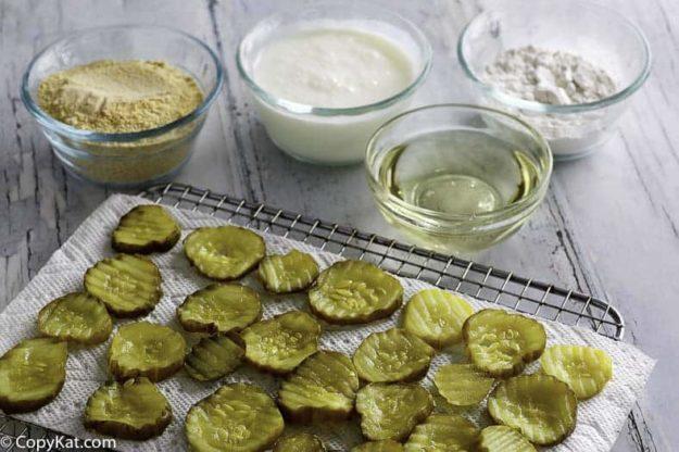 Ingredients to make Red Robin Pickle Nickels.