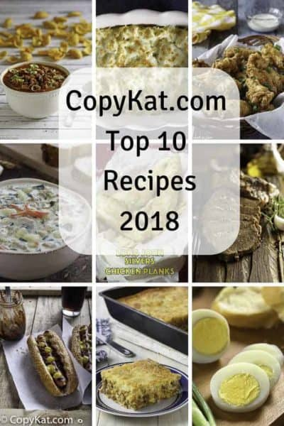 Here are the most popular recipes from CopyKat.com voted by you.