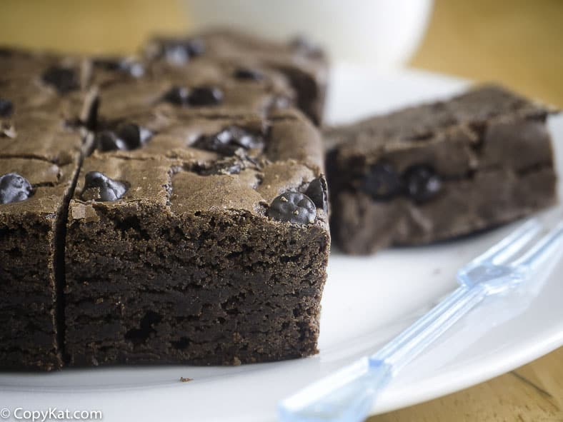 Brownies made with Bisquick MIx.