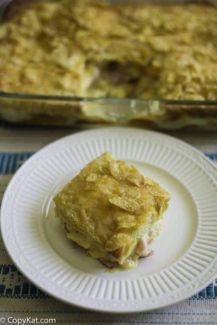 Overnight Breakfast Strata is an easy breakfast casserole to prepare.