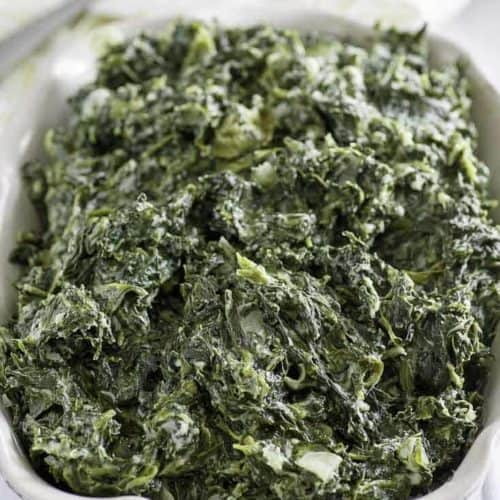 Homemade creamed spinach that tastes just like the Boston Market.