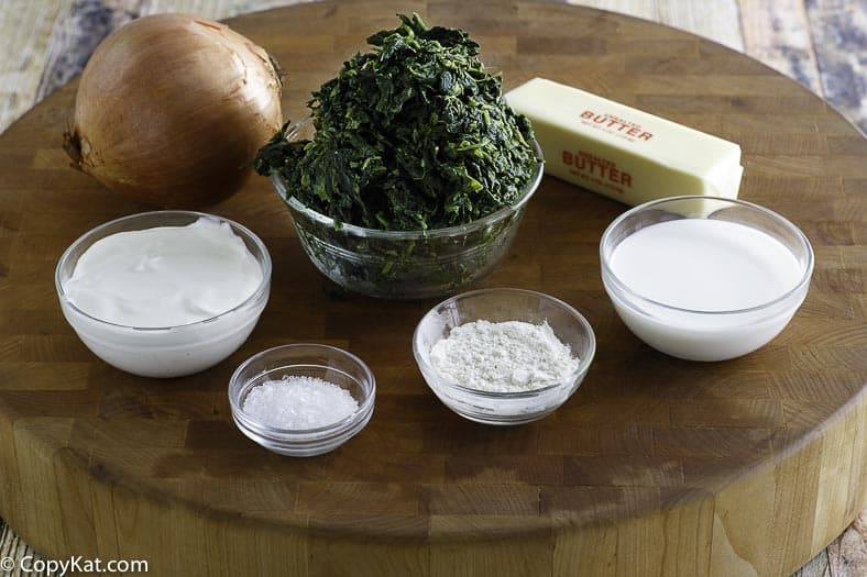 Boston Market creamed spinach ingredients