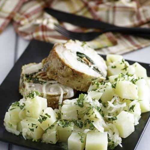 Buttery Parsley Potatoes.