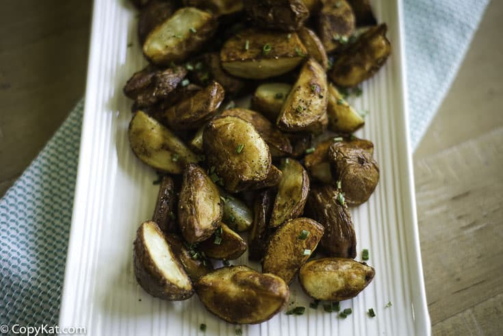 Roasted red potatoes made in the oven.