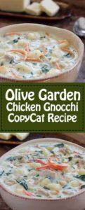 Olive Garden Chicken Gnocchi copycat recipe.
