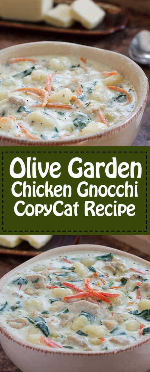 Olive garden chicken gnocchi soup recipe and video - Gnocchi soup olive garden recipe ...
