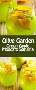 Olive Garden Green Apple Moscato Sangria recipe.