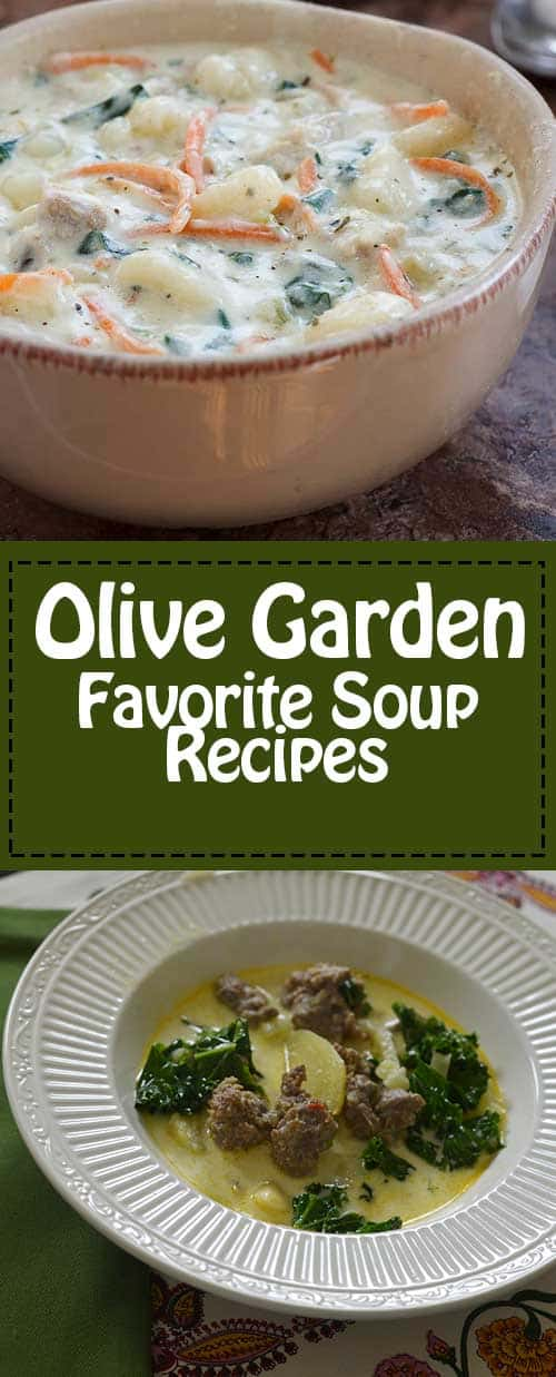 Get all 4 of the Olive Garden Soup Recipes.