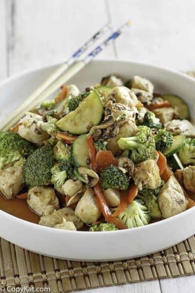 Hunan Chicken on a plate