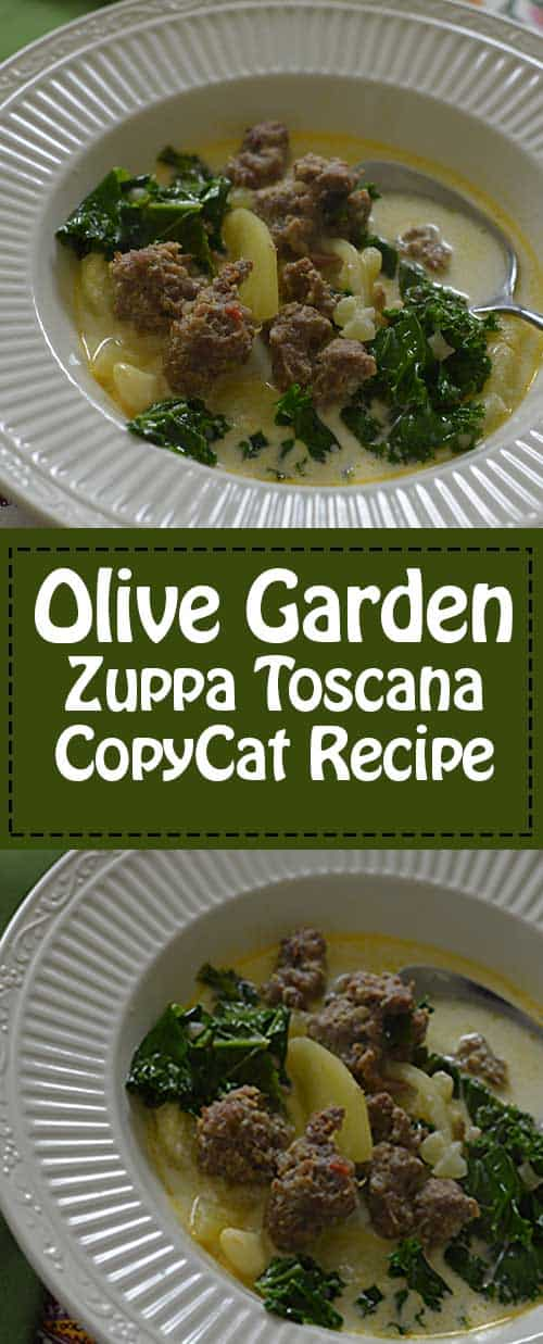 Olive Garden Copycat Recipe for the Zuppa Toscana.
