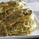 Stuffed Chicken Marsala on a plate.