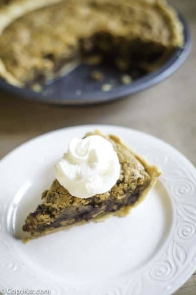 A chocolate chip pie