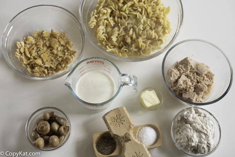 tuna mushroom casserole ingredients