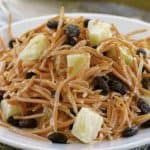 shredded carrot salad with raisins and pineapple